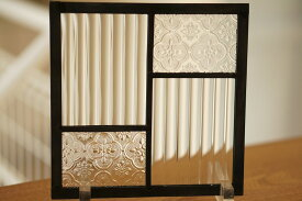 ステンドグラス 四つのガラス2 18cm×18cm