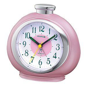 目覚まし時計 置き時計 メロディアラームクロック フルーティ ピンク 目覚時計 目覚し 時計 アナログ 時計