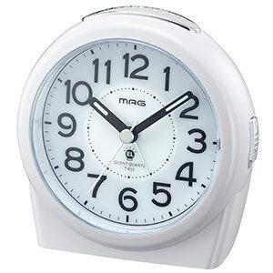 目覚まし時計 置き時計 目覚時計 目覚し 時計 アナログ 時計 ジャックポットDX ホワイト 常時点灯時計