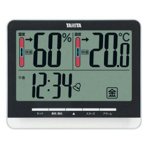タニタ tanita デジタル温湿度計 ブラック TT-538-BK