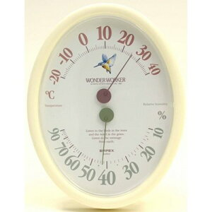 温度計 湿度計 アナログ 壁掛け ワンダーワーカー TM-463