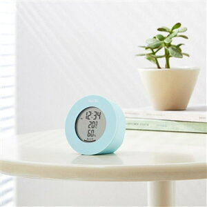 温湿度計 デジタル 温度計 湿度計 タニタ 置き マグネット式 インテリアサーモ ブルー