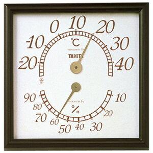 温湿度計 温度計 湿度計 タニタ オフィス用 幅30cm 大きい 大型 アナログ ブラウン