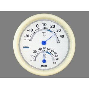 温湿度計 温度計 湿度計 タニタ シンプル 壁掛け式 直径約18cm インテリアサーモ