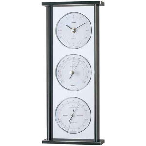 エンペックス スーパーEXギャラリー気象計・時計 EX-793 気圧計 温度計 湿度計 時計 置時計 機能的でシンプルなデザイン・インテリアに最適!
