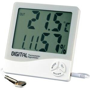 室内外 温湿度計 エンペックス デカデジ TD-8130 デジタル湿度計 内・外温度計 時計 カレンダー 大きく見やすいデジタル表示 2ヶ所の温度を同時にチェック