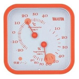 タニタ 温湿度計 TT-557-OR オレンジ(TANITA/熱中症/湿度/洗濯/梅雨/雨/温度/オフィス/コンパクト/湿気/カビ/体調管理)