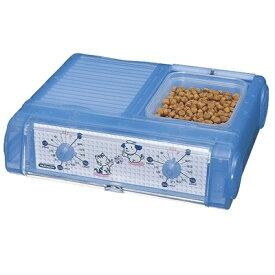オートペットフィーダー 自動給餌器 わんにゃんグルメ CD-400CBL クリアブルー(給餌機/フードトレー/ペット/タイマー/コードレス/犬/イヌ/猫/ネコ/餌/ペットフード/ドライフード/ウェットフード/食事管理)