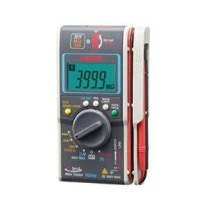 デジタルマルチメータ MΩテスター 小型絶縁抵抗計 三和電気計器 DG-34A(電流計/電圧計/絶縁抵抗測定/計測器/チェック/チェッカー/電気工事)
