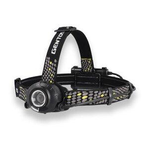 ヘッドライト ヘルメットライト LED 乾電池 充電池兼用 ジェントス 耐塵防滴 520ルーメン 後部認識灯搭載