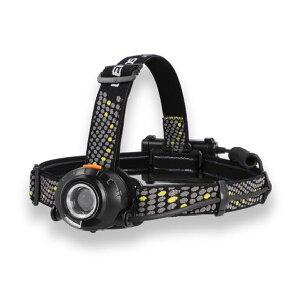 ヘッドライト ヘルメットライト LED 乾電池 充電池兼用 ジェントス 耐塵防滴 360ルーメン 後部認識灯搭載
