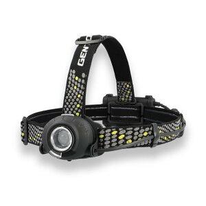 ヘッドライト ヘルメットライト LED 乾電池 充電池兼用 ジェントス 耐塵防滴 400ルーメン 後部認識灯搭載