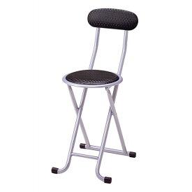 折りたたみ椅子 背もたれ付き 丸椅子 ブラック ロック機能付き 丸椅子 丸イス 丸いす 椅子 チェア ラウンドチェア スチールチェア パイプイス パイプ椅子 折りたたみ椅子 折りたたみ[送料無料]