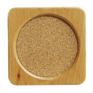 ウッドコースター 木製/コルク 角型 5枚セット