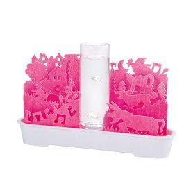 エコ加湿器 本体 ペーパー 紙 加湿機 自然気化式 不思議な世界 ピンク ECO