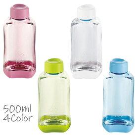 水筒 ウォーターボトル クリアー 500ml 飲料容器 目盛り付き スポーツドリンク 粉末 シェーカー