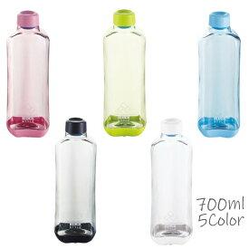 水筒 ウォーターボトル クリアー 700ml 飲料容器 目盛り付き スポーツドリンク 粉末 シェーカー