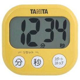 TANITA(タニタ) デジタルタイマー でか見えタイマー マンゴーイエロー TD-384-MY(キッチンタイマー/クッキングタイマー/調理用/料理)