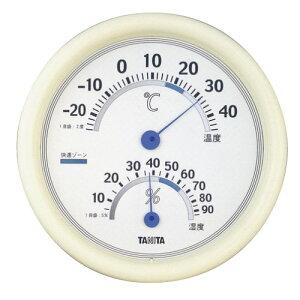 温度計 湿度計 温湿度計 アナログ シンプル表示 タニタ 白 ホワイト