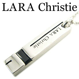 LARA Christie ララクリスティー サイドウェイネックレス ブラック メンズ ネックレス ブラックキュービックジルコニア シルバー925 エナメル P3037-B