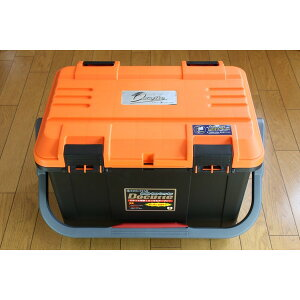 NEW(リングスター) 大型工具箱 ドカット D-5000 オリジナルカラー 本体マットブラック/ 蓋オレンジ/ブラックバックル 中皿が小さくなりました。
