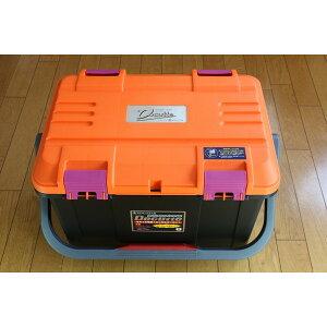 NEW(リングスター) 大型工具箱 ドカット D-5000 オリジナルカラー 本体マットブラック/ 蓋オレンジ/ピンクバックル 中皿が小さくなりました。