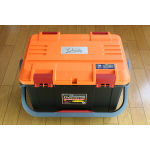 NEW(リングスター) 大型工具箱 ドカット D-5000 オリジナルカラー 本体マットブラック/ 蓋オレンジ/レッドバックル 中皿が小さくなりました。