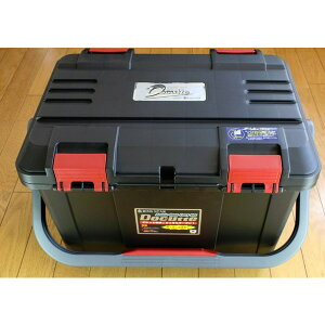 NEW(リングスター) 大型工具箱 ドカット D-5000 オリジナルカラー 本体マットブラック/ 蓋ブラック/レッドバックル 中皿が小さくなりました。