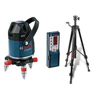 在庫有 超特価 セール ボッシュ レーザー墨出し器 GLL8-40ESET 水平4ライン、垂直4ライン、鉛直、地墨フルライン 受光器・三脚・ケース付 BOSCH ★
