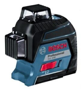 最終特価 ボッシュ レーザー墨出し器 GLL3-80 ターゲットパネル+ポーチ+キャリングケース付 コンパクトな360°フルラインレーザー BOSCH