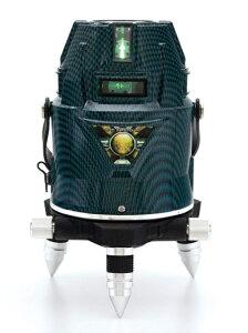 山真製鋸 レーザー墨出し器 アクアグリーンレーザー LDR-9sh-W 本体+受光器+三脚 電子整準式 フルライン照射 全ラインにドット照射 YAMASHIN