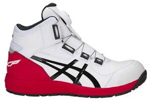 送料無料 アシックス 安全靴 ウィンジョブ CP304BOA 1271A030 100 ホワイトxブラック セーフティーシューズ ウィンジョブR asics △