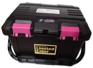 限定カラー リングスター 大型工具箱 ドカット D-4700 BK 黒ハンドル ブラック 真黒 当店オリジナルピンクバックル LimitedColorステッカー 465x333x322mm 重量2.6kg 容量約27L