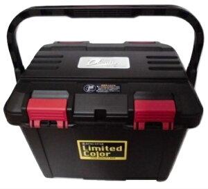 限定カラー リングスター 大型工具箱 ドカット D-4700 BK 黒ハンドル ブラック 真黒 当店オリジナル赤バックル LimitedColorステッカー 465x333x322mm 重量2.6kg