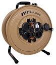 ハタヤ サンデーレインボーリール 15m アース付 SG-15KBE デザートカラー 屋外用防雨型接地付 3芯 重量4.1kg 幅326mmx…
