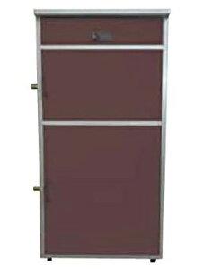 直送・代引不可 KGY工業 宅配ボックス リシム ミドル THB-382 BR ブラウン 盗難防止金具2ヶ所 本体サイズH820xW410xD325mm 本体重量約11kg 大型商品