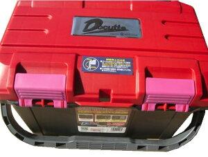 当店オリジナル【リングスター】大型工具箱 ドカット D-4500 レッド/ブラック バックルピンクタイプ