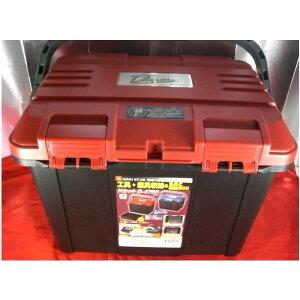 リングスター 大型工具箱 ドカット D-4700 オールレッド バックルも赤タイプ 465x333x322mm 重量2.6kg 容量約27L