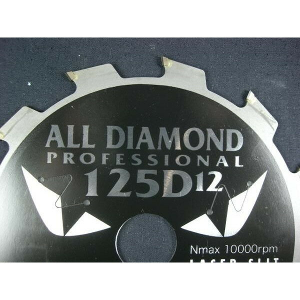 山真製鋸 オールダイヤチップソー サイディング用 レーザースリット入り 12P 125mm CYT-YSD-125D12 ヤマシン