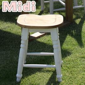 【送料無料】CFS-213 ミディツール椅子 スツール 椅子 おしゃれ天然木(パイン) オイル仕上 水性塗装