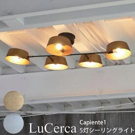 ELUX エルックス Lu Cerca ルチェルカ Capiente1 カピエンテ1 5灯シーリングライト 北欧 天井照明 シーリングライト 可動式ライト 照明 リビング おしゃれ ゴールド LC10908-GD ヴィンテージシルバー LC10908-VS