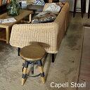 【送料無料】TTF-817 スツール カペルスツール 高さ調節 昇降機能 スチール 天然木 丸 円 おしゃれ 素朴な風合い スツール 椅子