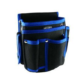 腰袋 二段 マルチポケット付き HT-14B ブラック ブルー