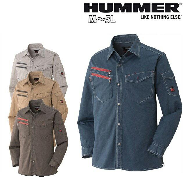 HUMMER|ハマー|春夏作業服|ストレッチ長袖シャツ(旧品番631-6) 1601-6