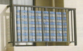 ダイオ化成 ベランダの目隠し用スクリーン ダイオスーパーベール 高さ80cm×長さ180cm 300C (濃紺×シルバーグレイ色) ベランダ目隠しネット