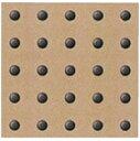 点鋲 グレー Φ23×5 (300角) 点鋲25個付×1枚 JF23-25-12型 ポリアセタール樹脂製