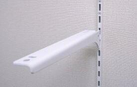ロイヤル A-32/33棚柱用ブラケット 木棚用ホワイト 450 左右セット