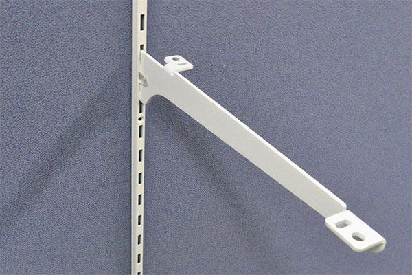 ロイヤル 木棚用ブラケット(中間受け専用) R-034W 200mm ホワイト