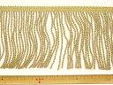 フリンジ(レーヨンコード)-ゴールド10.0cm幅FRA-11739-100【ネコポス便OK】
