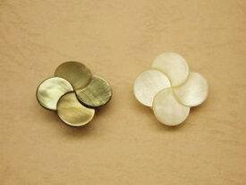 貝ボタン(花)-15mmSBTM-70032-15【ネコポス便OK】